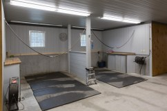 new barn grooming stalls