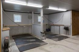 new barn grooming stalls